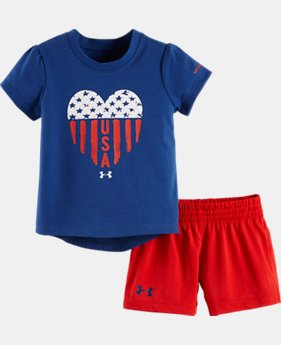 Girls' Infant UA USA Set