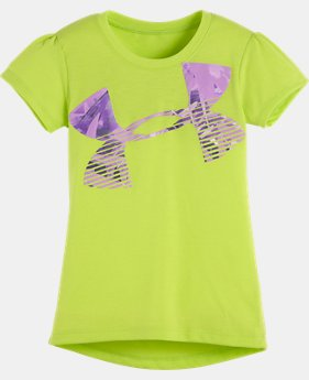 Girls' Pre-School UA Jungle Jive Hi Lo Logo Short Sleeve