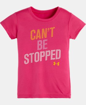 Girls' Toddler UA Can't Be Stopped Short Sleeve