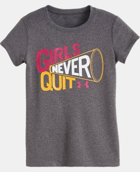 Girls' Pre-School UA Girls Never Quit Short Sleeve