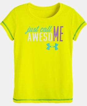 Girls' Pre-School UA Just Call Me Awesome T-Shirt