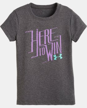 Girls' Pre-School UA Here To Win Short Sleeve