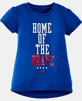 Girls' Pre-School UA Home Of The Brave Short Sleeve