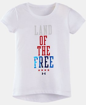 Girls' Toddler UA Land Of The Free Short Sleeve