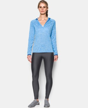 Women's UA Tech™ Long Sleeve Hooded Henley LIMITED TIME: FREE U.S. SHIPPING 1 Color $33.74