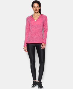 Women's UA Tech™ Long Sleeve Hooded Henley  1 Color $37.49