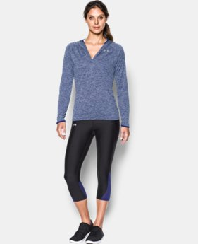 Women's UA Tech™ Long Sleeve Hooded Henley  1 Color $25.49 to $44.99