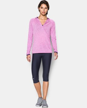 Women's UA Tech™ Long Sleeve Hooded Henley LIMITED TIME: FREE U.S. SHIPPING 3 Colors $33.99 to $44.99
