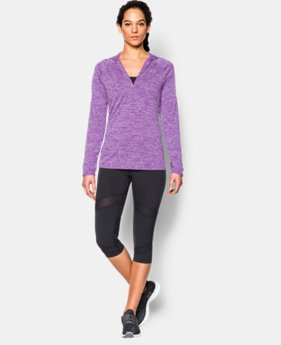 Women's UA Tech™ Long Sleeve Hooded Henley   $31.99 to $33.99