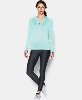 Women's UA Tech™ Long Sleeve Hooded Henley  1 Color $44.99