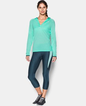 Women's UA Tech™ Long Sleeve Hooded Henley  2  Colors Available $25.49 to $33.99