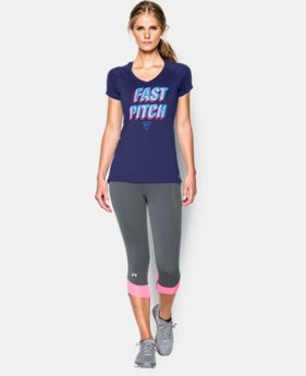 Women's UA Softball Graphic Short Sleeve LIMITED TIME: FREE U.S. SHIPPING 1 Color $24.99