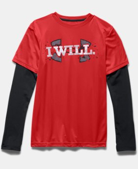 Boys' UA Armour Up 2-In-1 Long Sleeve