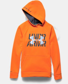 Boys' UA Storm Armour® Fleece Script Hoodie