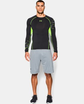 Men's UA HeatGear® Armour Graphic Long Sleeve Compression Shirt