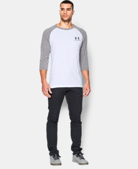 Men's UA Sportstyle ¾ Sleeve T-Shirt LIMITED TIME: FREE U.S. SHIPPING 1 Color $26.99