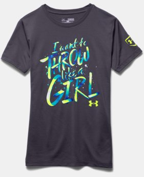 Girls' UA Throw Like A Girl T-Shirt