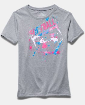 Girls' UA Softball Splatter T-Shirt