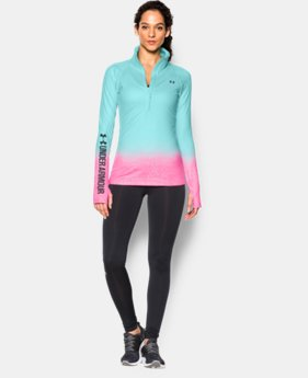 Women's UA ColdGear® Sublimated Cozy ½ Zip