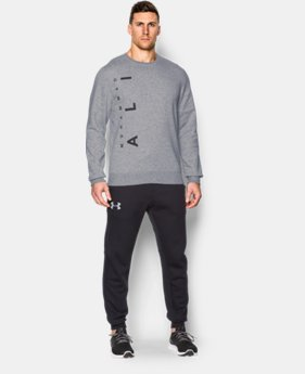 Men's UA x Muhammad Ali Rival Fleece Crew   $35.99