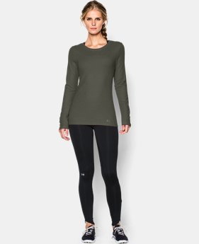 New to Outlet Women's UA Cozy Waffle Long Sleeve Limited Quantities 1 Color $29.99