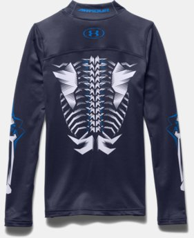 Boys' UA Bone ColdGear® Mock Long Sleeve