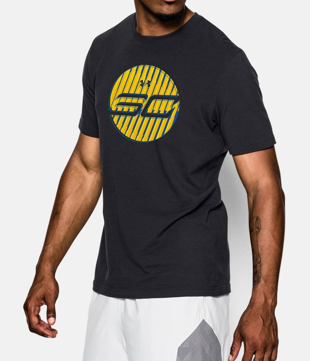 Men s sc30 stephen curry gold runner t shirt under armour us for Stephen curry under armour shirt