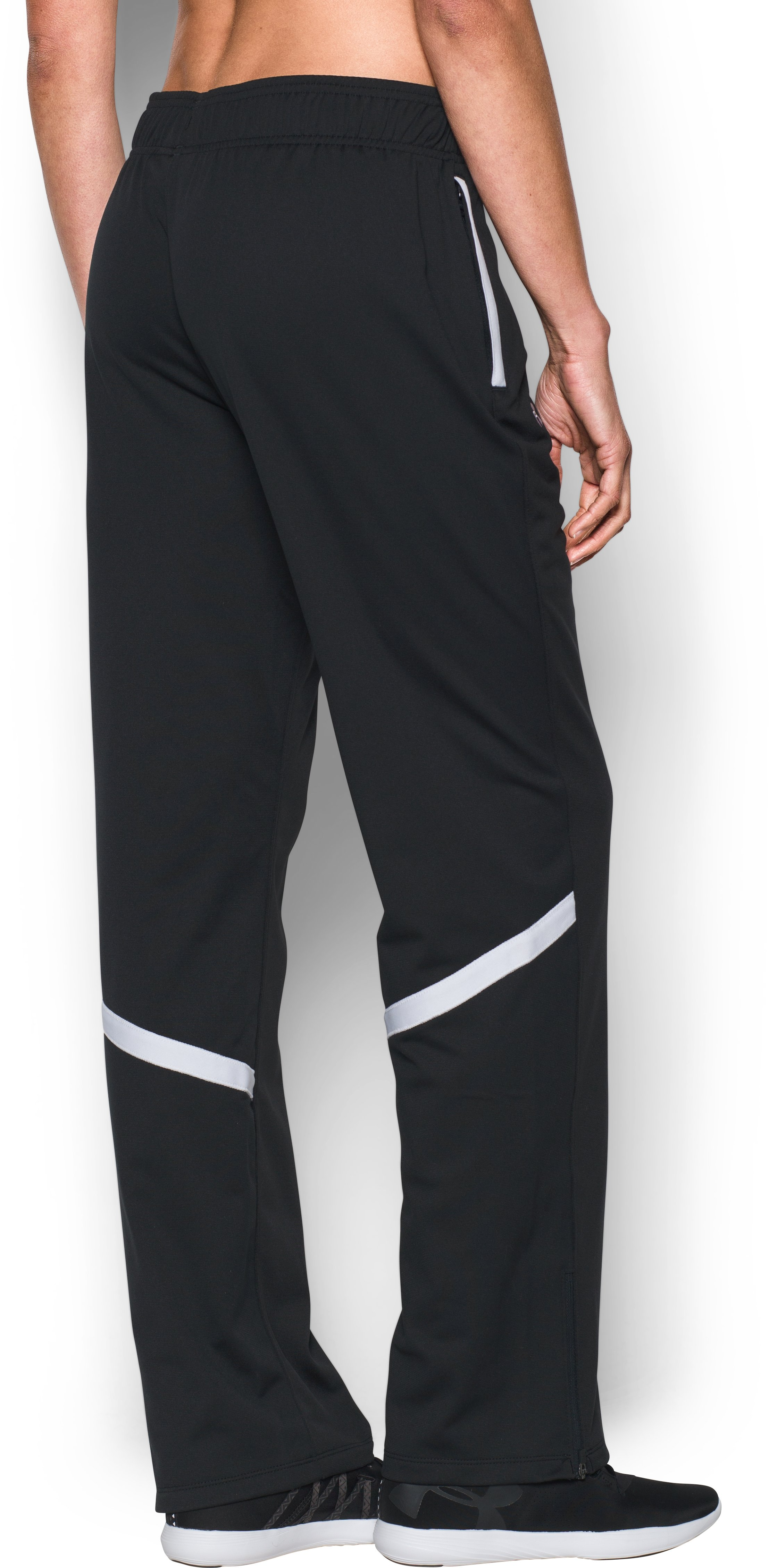 Women's UA Qualifier Knit Warm-Up Pants, Black ,