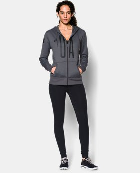 Women's UA Storm Armour® Fleece Full-Zip Graphic Hoodie