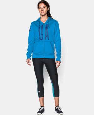 Women's UA Storm Armour® Fleece Full-Zip Graphic Hoodie LIMITED TIME: FREE U.S. SHIPPING 4 Colors $42.74