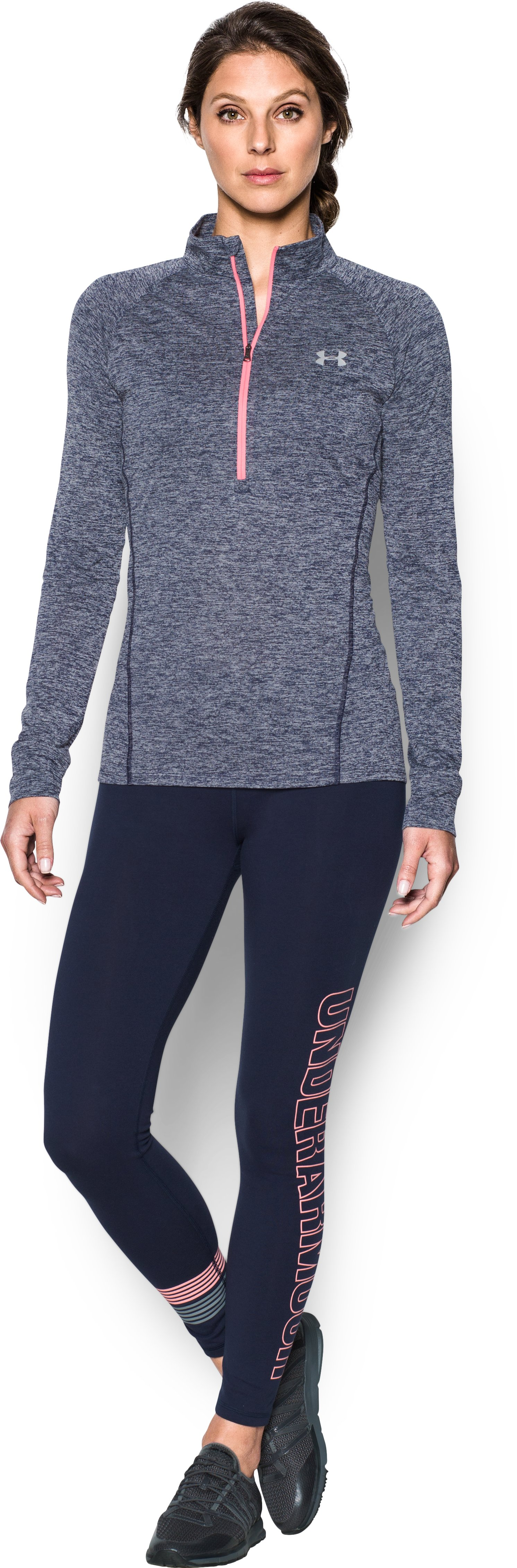 Women's UA Tech™ 1/2 Zip Twist, Midnight Navy