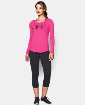 Women's UA Stripe Logo Long Sleeve