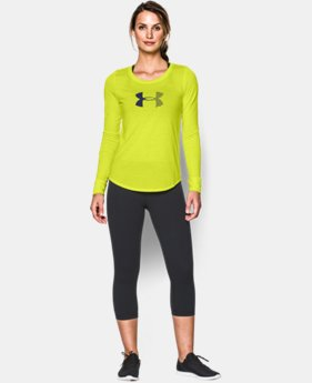 Women's UA Stripe Logo Long Sleeve  1 Color $34.99