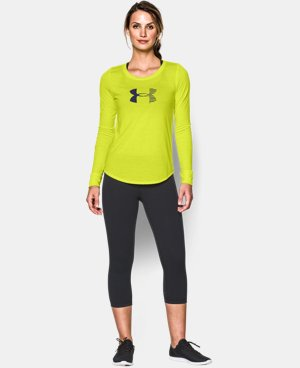 Women's UA Stripe Logo Long Sleeve   $26.99