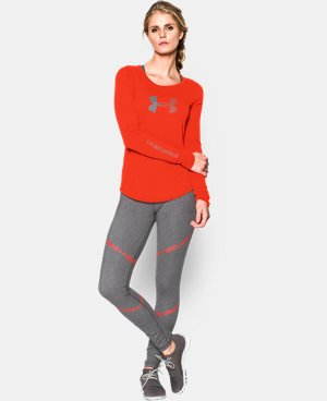 Women's UA Stripe Logo Long Sleeve LIMITED TIME: FREE U.S. SHIPPING 1 Color $34.99