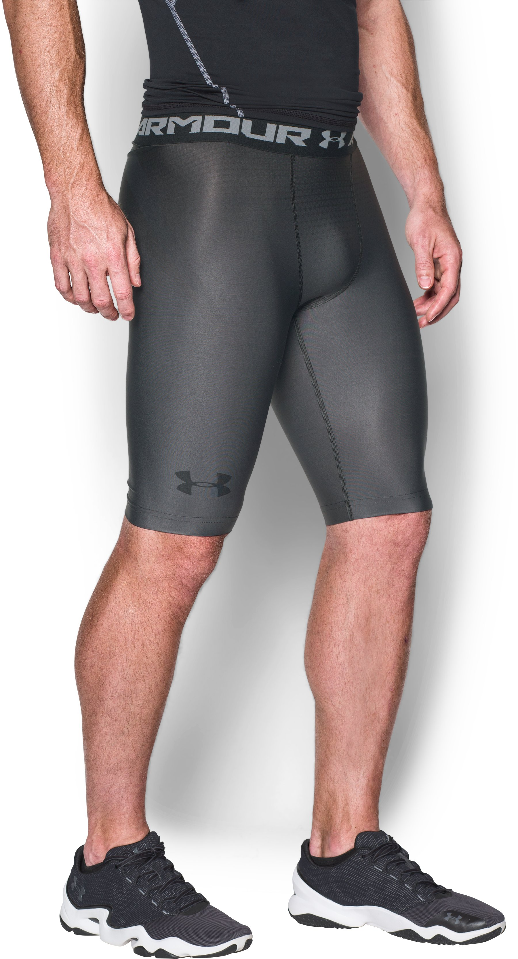Men's UA Charged Compression Shorts, Graphite, zoomed image