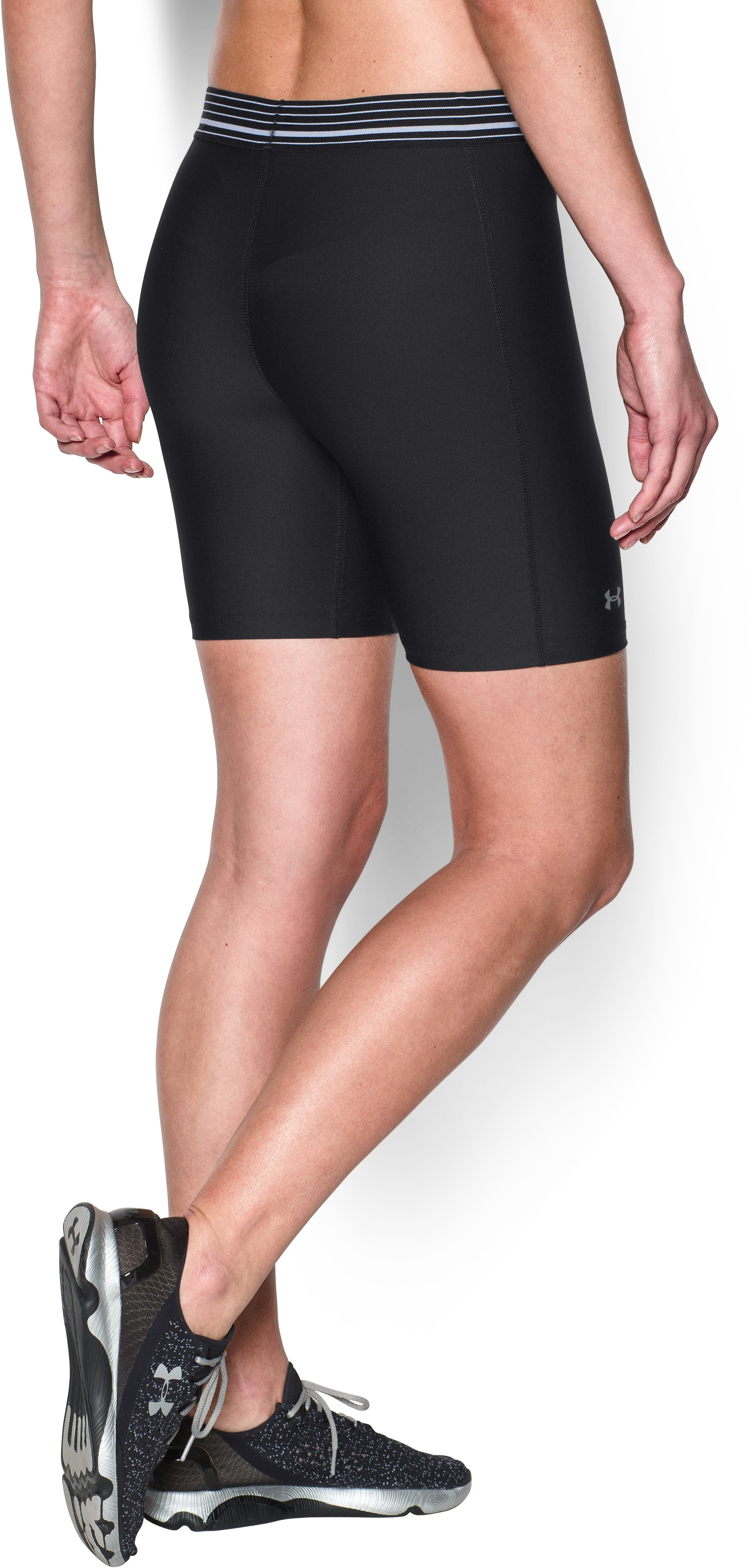Women's UA HeatGear® Armour Long Short, Black