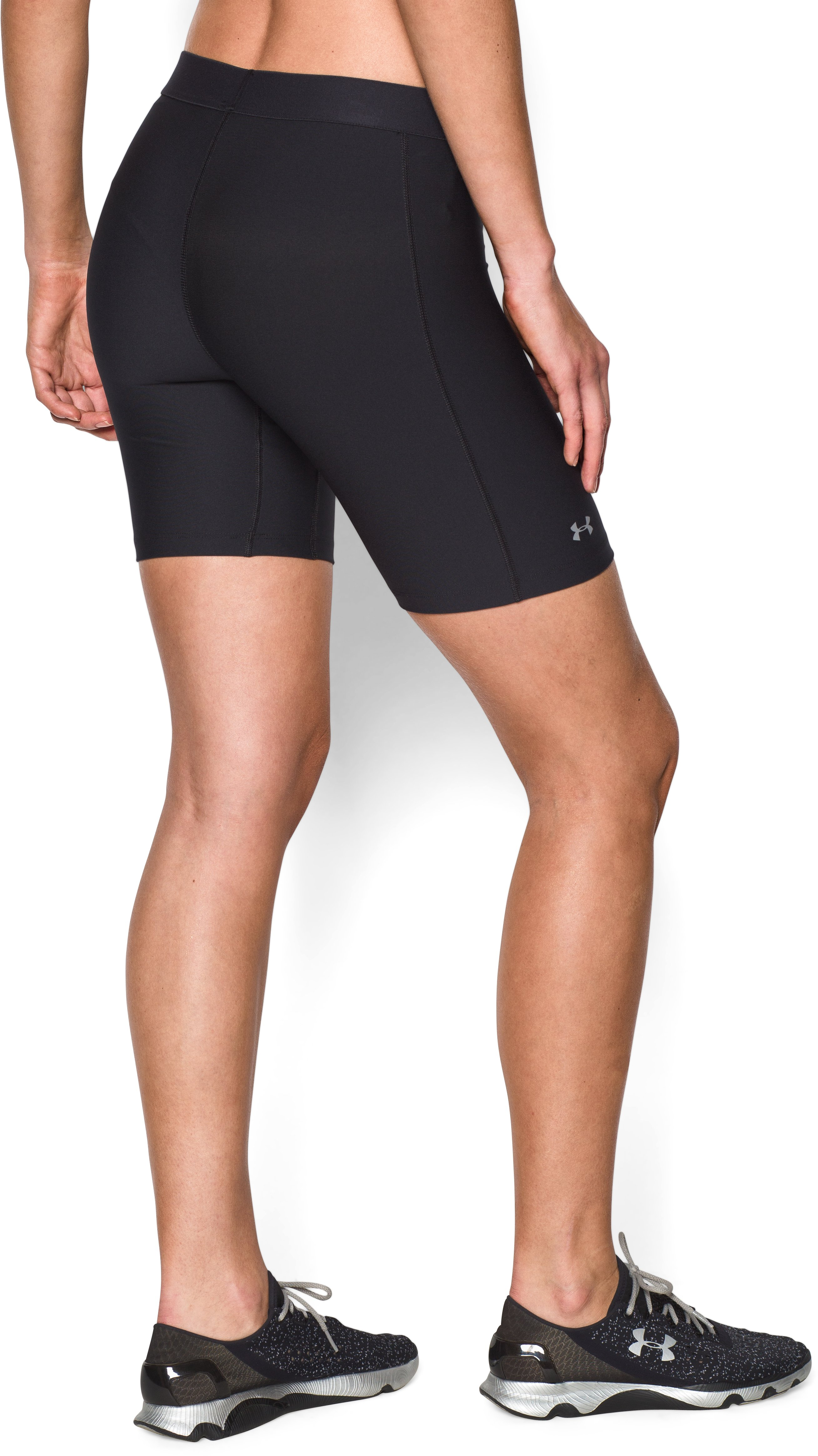 Women's UA HeatGear® Armour Long Short, Black ,