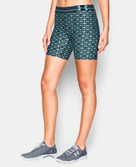 Women's UA HeatGear® Armour Printed Mid Short