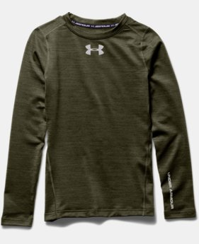 Boys' UA ColdGear® Armour Twist Crew
