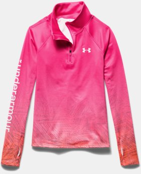 Girls' UA ColdGear® Cozy Sublimated ½ Zip