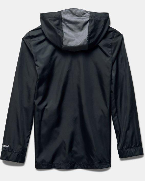 Boys' UA Futbolista Shell Jacket, Black, pdpMainDesktop image number 3