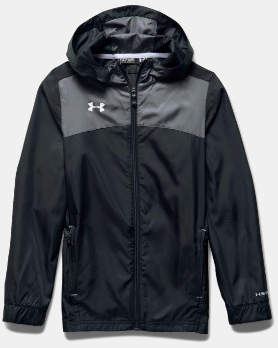 Boys' UA Futbolista Shell Jacket, Black, pdpMainDesktop image number 2