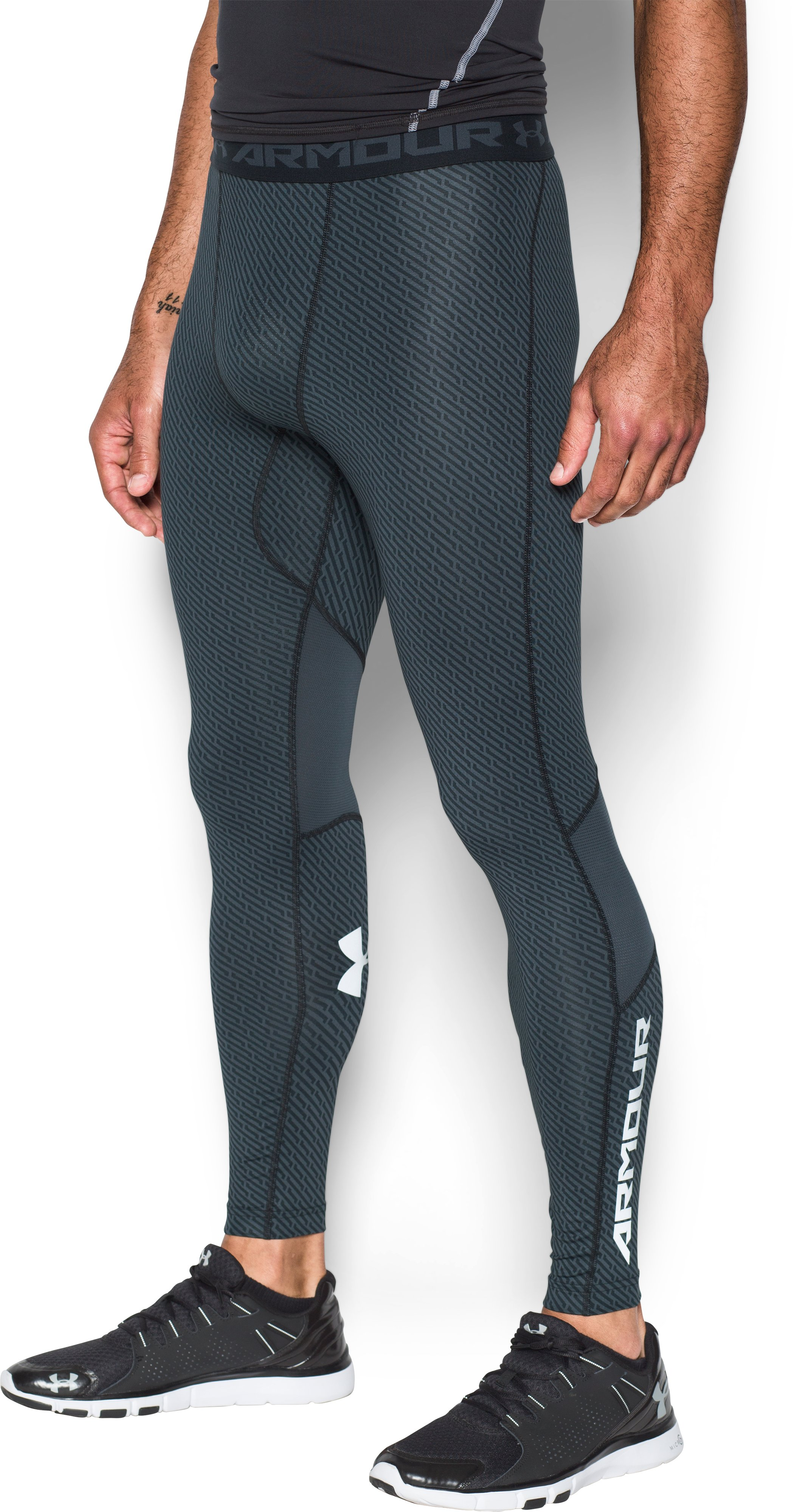 Men's UA CoolSwitch Compression Leggings, STEALTH GRAY