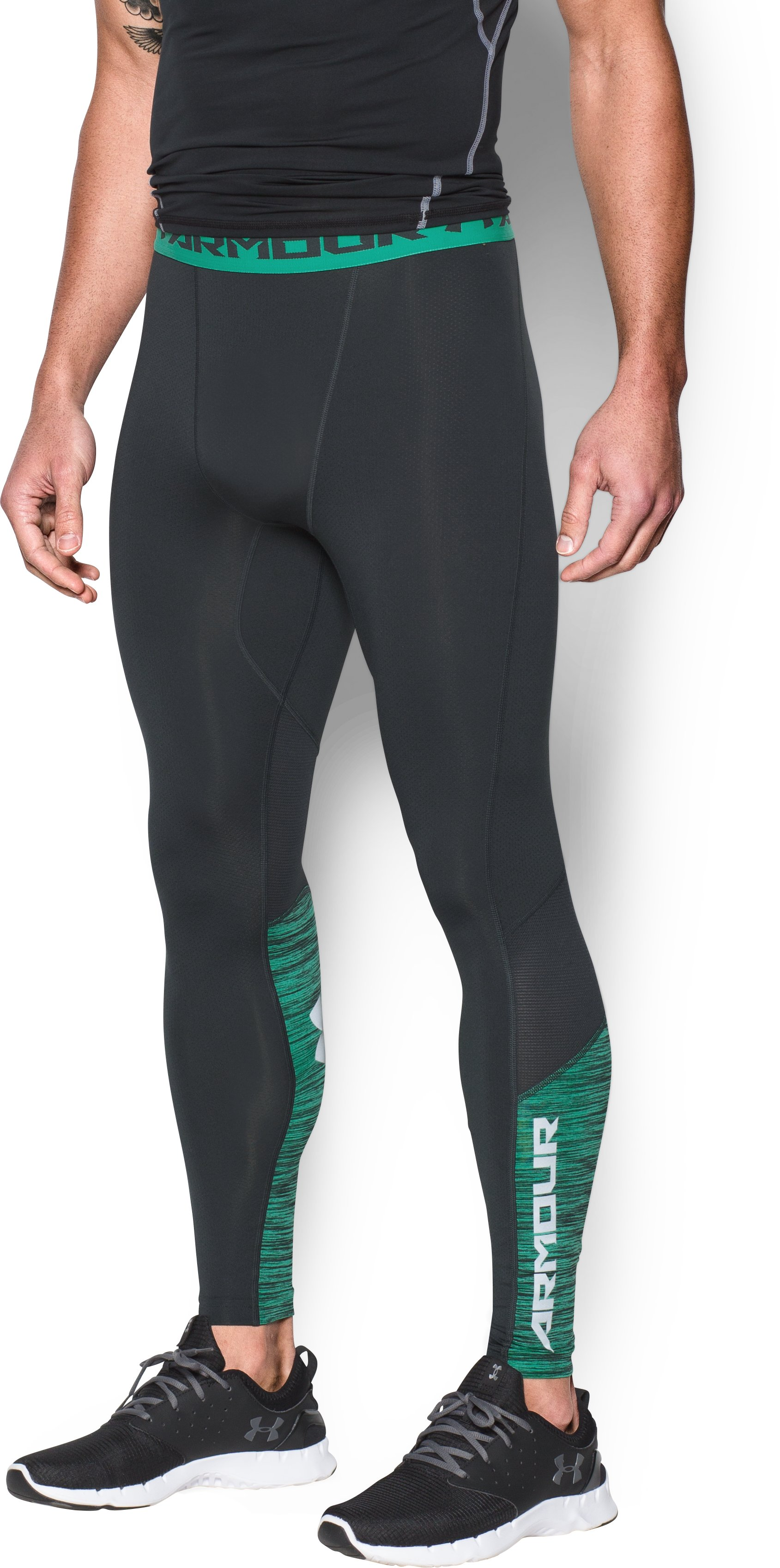 Men's UA CoolSwitch Compression Leggings, ANTHRACITE