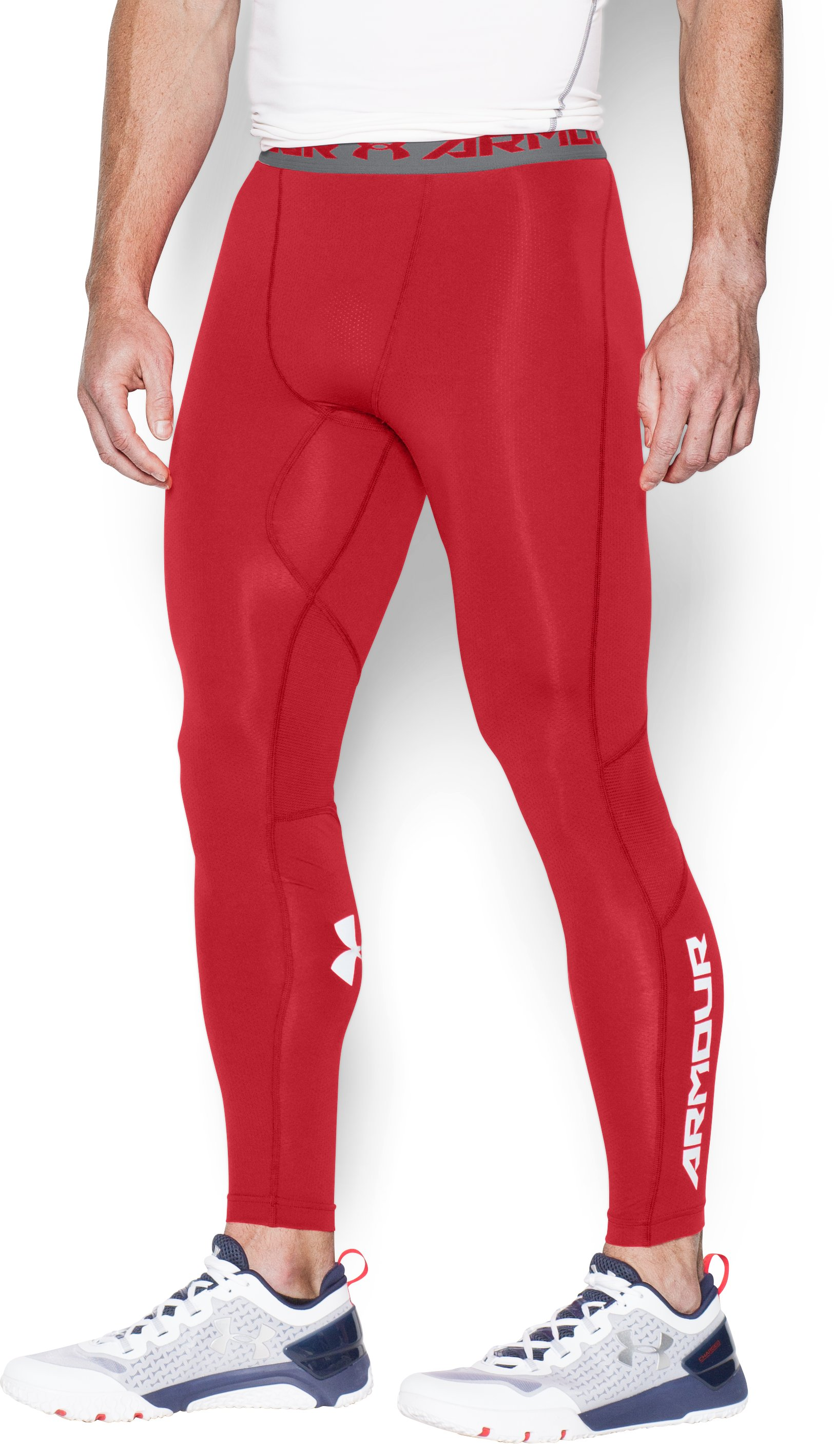 Men's UA CoolSwitch Compression Leggings, Red,