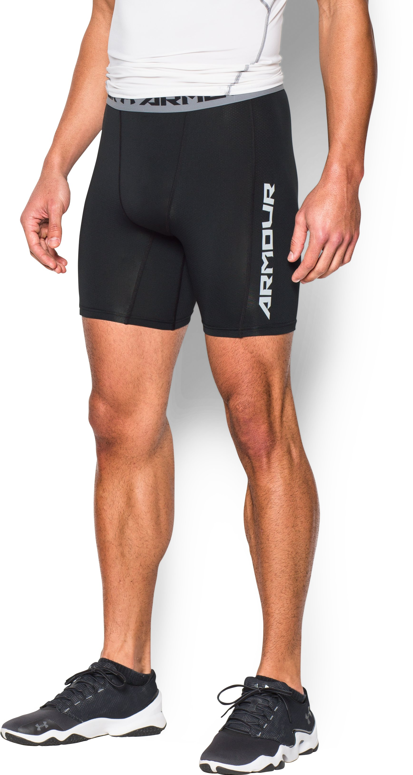 Men's UA CoolSwitch Compression Shorts, Black , undefined