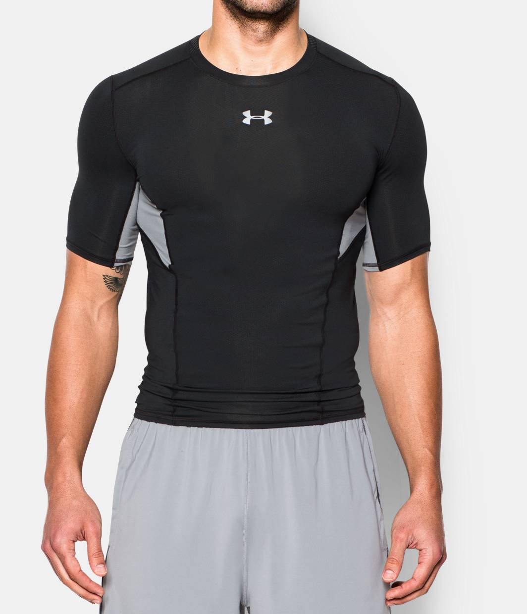 Men 39 s ua coolswitch short sleeve compression shirt under for Under armour i will shirt