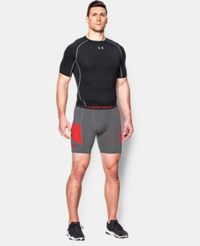 Men's UA HeatGear® Armour Pocketed Compression Shorts