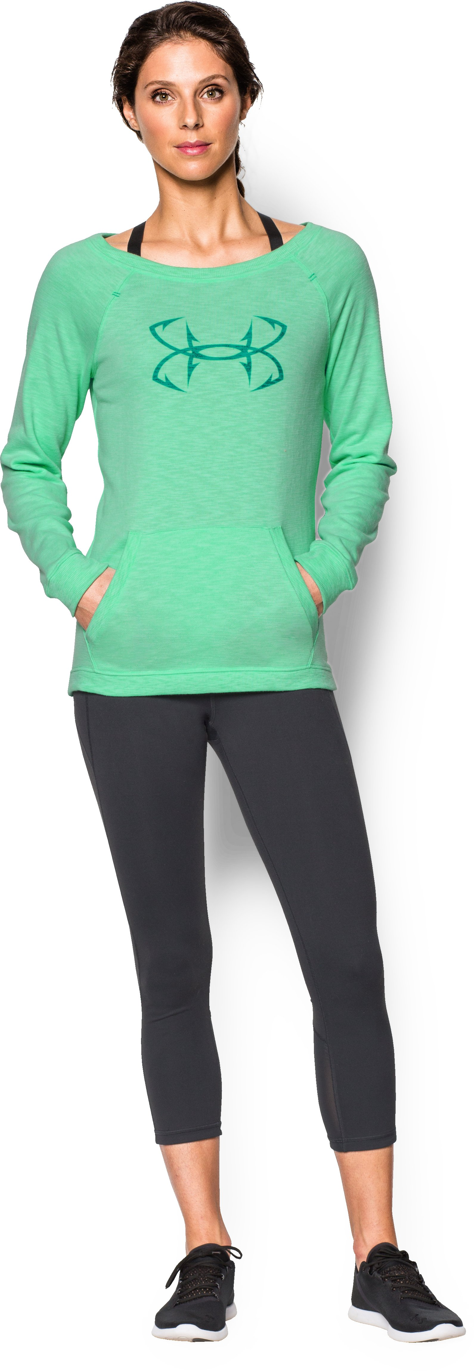 Women's UA Ocean Shoreline Terry Crew, ANTIFREEZE, zoomed image